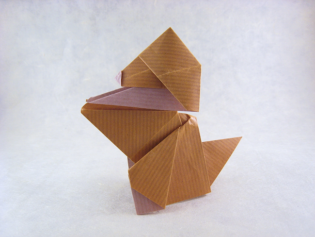 Origami Puppy by Roman Diaz folded by Gilad Aharoni