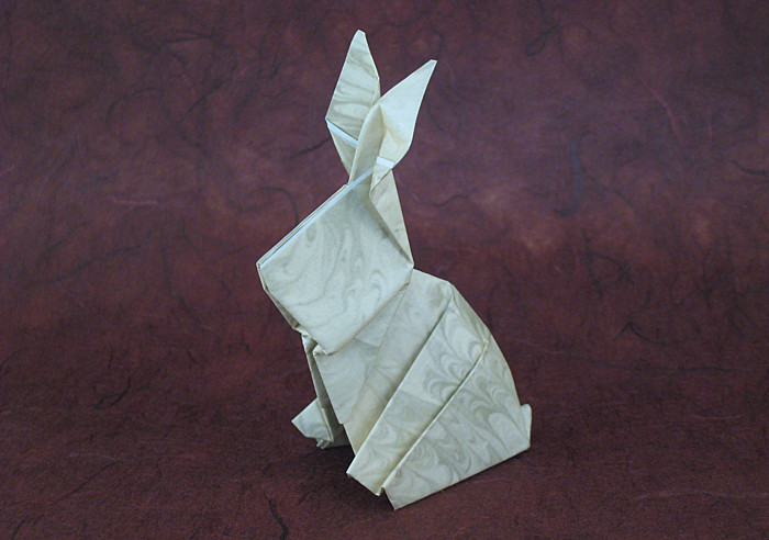 Origami Rabbit by David Shall folded by Gilad Aharoni