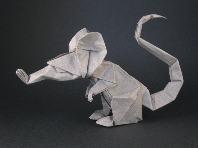 Origami Rat by Eric Joisel folded by Gilad Aharoni on www.giladorigami.com