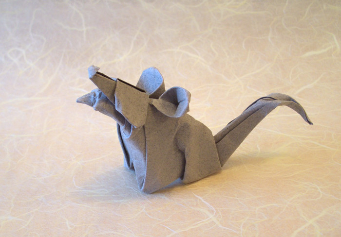 Origami Rat by Felipe Moreno Salinas folded by Gilad Aharoni on giladorigami.com