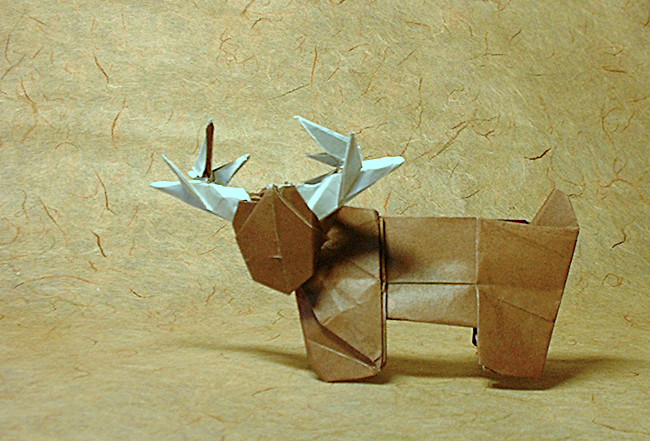 Origami Reindeer by Marc Kirschenbaum folded by Gilad Aharoni on giladorigami.com