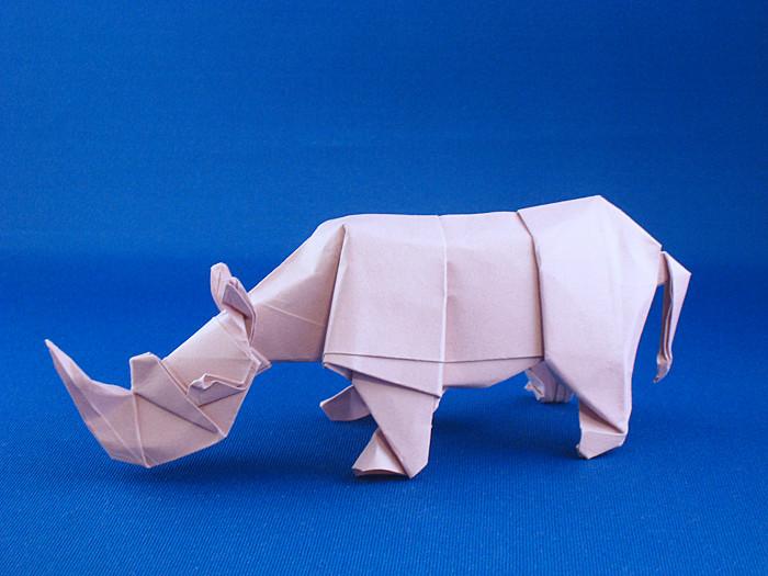 Quentin Trollip 170 Square Origami Rhinoceros