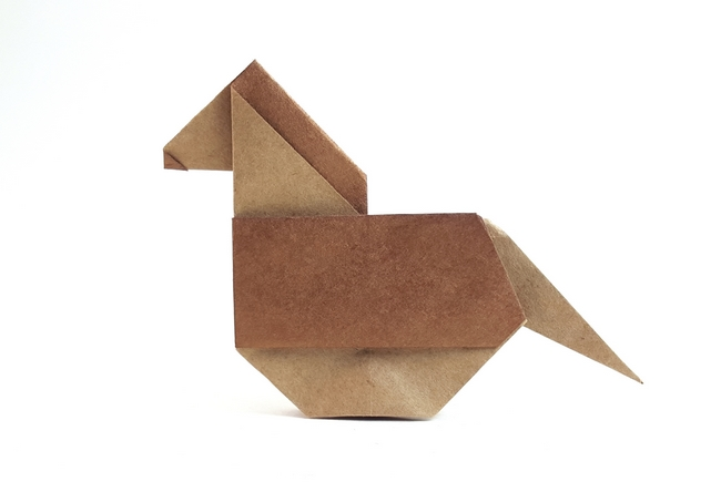 Origami Rocking horse by Jose Tomas Buitrago folded by Gilad Aharoni