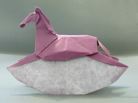 Origami Rocking horse by Ronald Koh folded by Gilad Aharoni on giladorigami.com