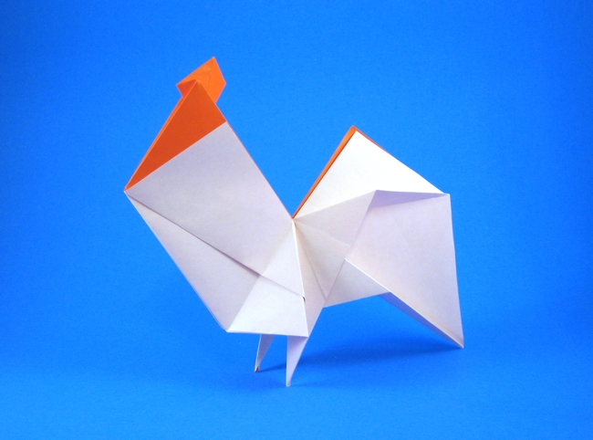 Hideo Komatsu 17 Square Origami Rooster By Folded From A Of Paper Gilad Aharoni On