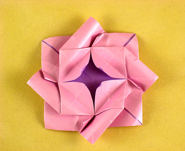 Origami Octagonal Container Folding Instructions | 530x650