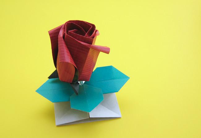 How to Fold an Origami Kawasaki Rose | 446x650