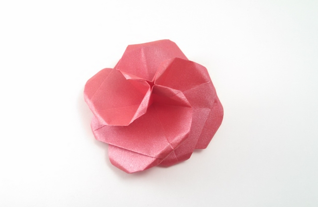Origami Rose for Irene by Michael G. LaFosse folded by Gilad Aharoni
