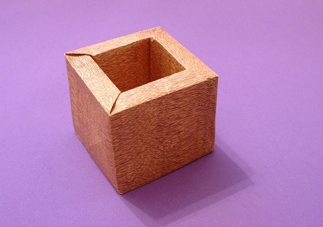 Origami Sake box by David Brill folded by Gilad Aharoni on giladorigami.com