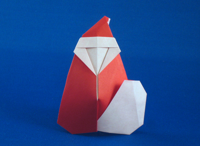 Origami Santa Claus by Arun Soor folded by Gilad Aharoni
