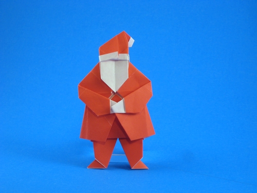 Origami Santa by Steve and Megumi Biddle folded by Gilad Aharoni