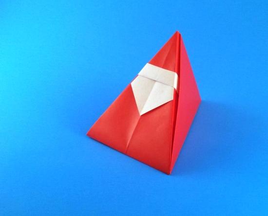 Santa Claus Origami Santa Claus Paper Christmas - Weihnachtsmann ... | 444x550