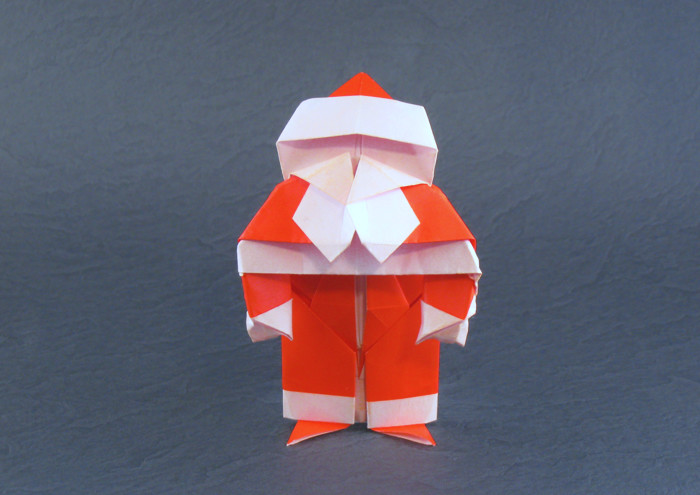 Origami Santa Claus by David Brill folded by Gilad Aharoni