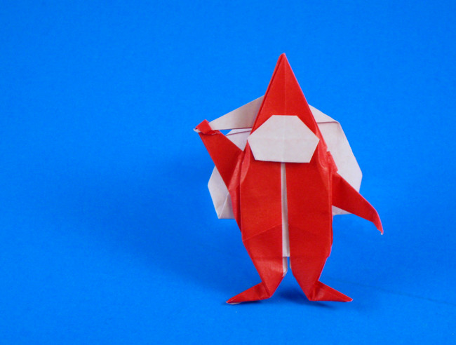 Origami Santa Claus by Peter Budai folded by Gilad Aharoni on giladorigami.com