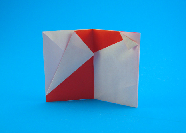 Origami Santa card by Sy Chen folded by Gilad Aharoni