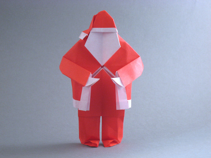 Origami Santa Claus by Steven Casey Folded from a square of origami paper by Gilad Aharoni on giladorigami.com