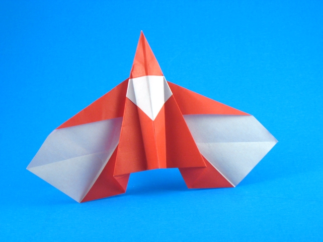 Origami Santa - flying by Sy Chen folded by Gilad Aharoni