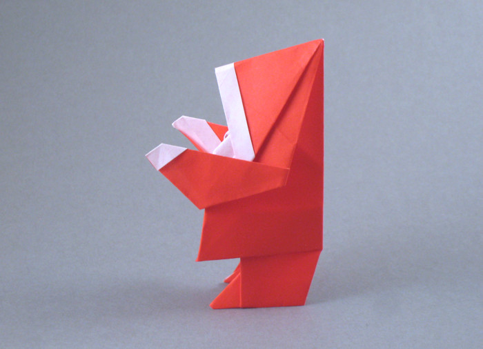 Origami Santa Claus by Edwin Corrie folded by Gilad Aharoni