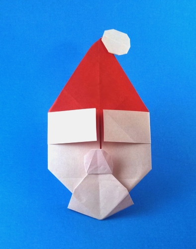 Origami Santa - sober or merry by Gayatri D'Souza folded by Gilad Aharoni