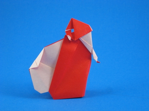 Origami Santa Claus by Jens-Helge Dahmen folded by Gilad Aharoni on giladorigami.com