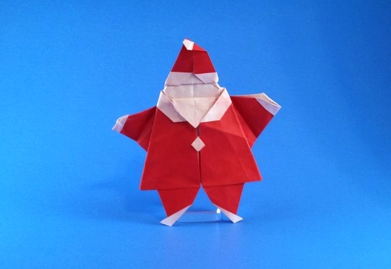 Create Extremely Cheerful DIY Origami Santa Claus For Your Decor ... | 379x550