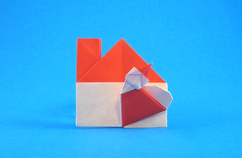 Origami Santa Claus has come to my house by Enomoto Nobuyoshi folded by Gilad Aharoni