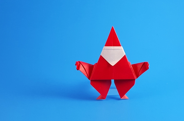 Origami Santa Claus by Alfredo Giunta folded by Gilad Aharoni