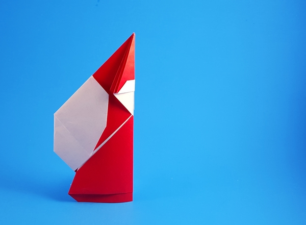 Origami Santa Claus by Andres Lozano folded by Gilad Aharoni