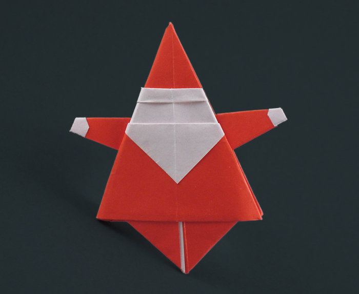 Origami Santa Claus by Matsuno Yukihiko folded by Gilad Aharoni on giladorigami.com