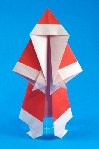 Origami Santa Claus by Jason Neal Folded from a square of origami paper by Gilad Aharoni on giladorigami.com