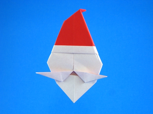 Origami Santa by Stephen A. Palmer folded by Gilad Aharoni