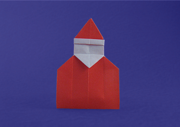 Origami Santa page marker by David Petty folded by Gilad Aharoni