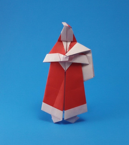 Origami Santa and his sack by John Smith folded by Gilad Aharoni