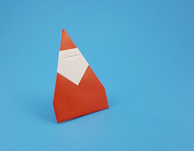 Origami Santa - standing by Francesco Mancini folded by Gilad Aharoni