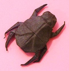 Origami Scarab by Alfredo Giunta folded by Gilad Aharoni on giladorigami.com