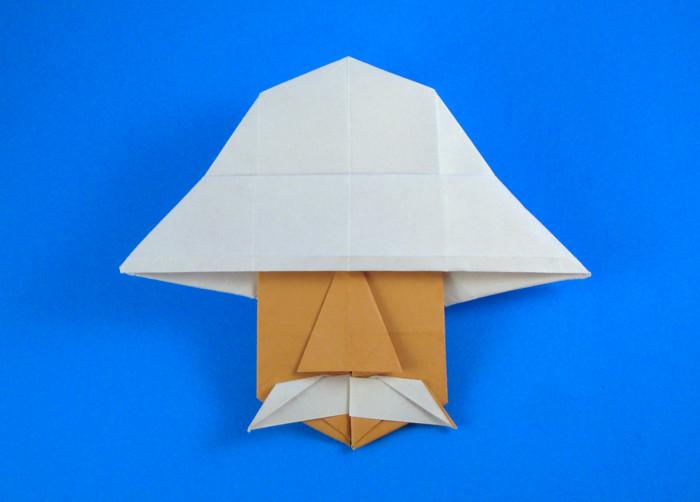 Origami Albert Schweitzer By Eric Kenneway Folded Gilad Aharoni