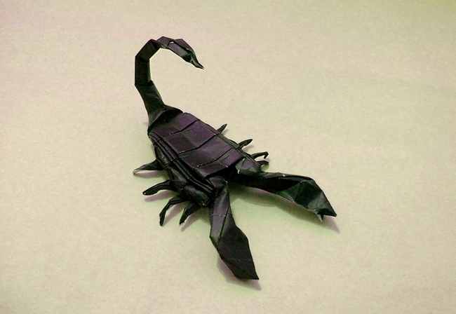Origami Scorpion by Lionel Albertino folded by Gilad Aharoni on giladorigami.com