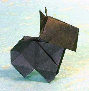 Origami Scottie Dog 3 by Edwin Corrie folded by Gilad Aharoni