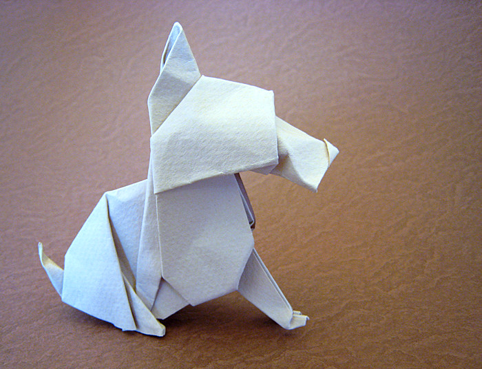 Origami Scottie by Neal Elias folded by Gilad Aharoni on giladorigami.com