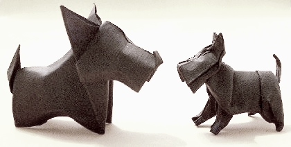 Origami Scottie by Max Hulme folded by Gilad Aharoni