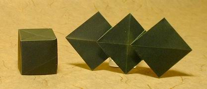 Origami Three diamonds by Mike Thomas folded by Gilad Aharoni