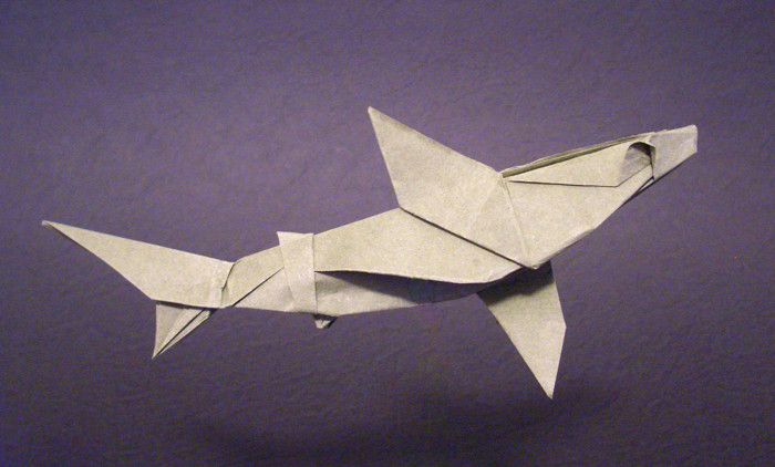 Origami Shark by Ronald Koh folded by Gilad Aharoni