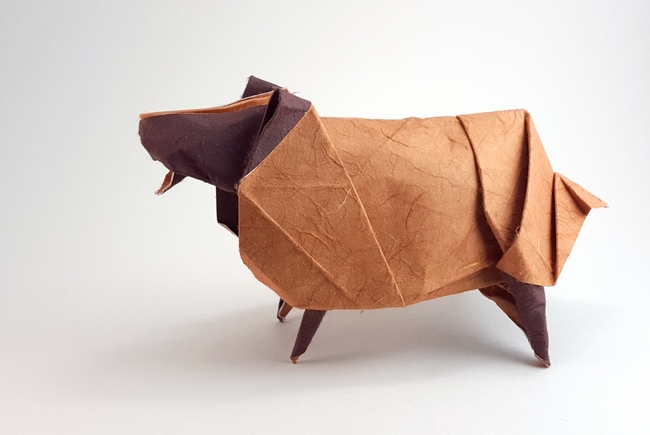 Origami Sheep by Andrew Hudson folded by Gilad Aharoni