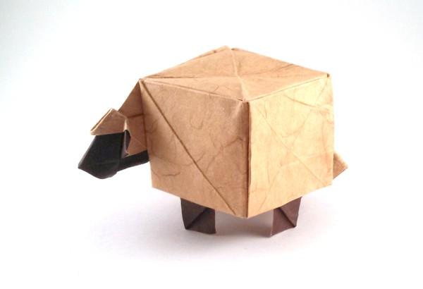 I Love This Idea Origami Sheep By Jeong Ki Dam Folded From A Square Of Double Sided Mulberry