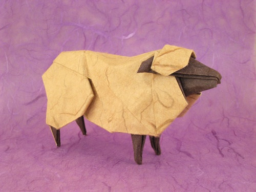 Origami Sheep by Hideo Komatsu folded by Gilad Aharoni