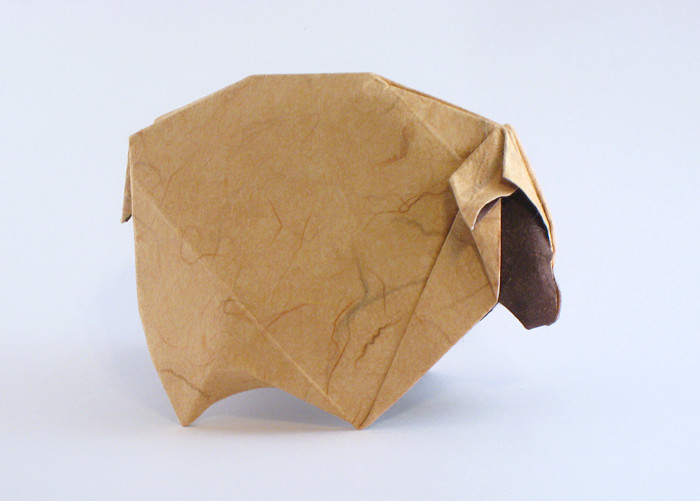 Origami Sheep by Roman Diaz folded by Gilad Aharoni