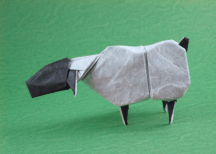 Origami Sheep by Quentin Trollip folded by Gilad Aharoni