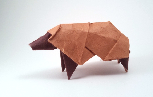Origami Sheep by Watanabe Dai folded by Gilad Aharoni