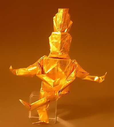 Origami Shiva by Robert J. Lang folded by Gilad Aharoni