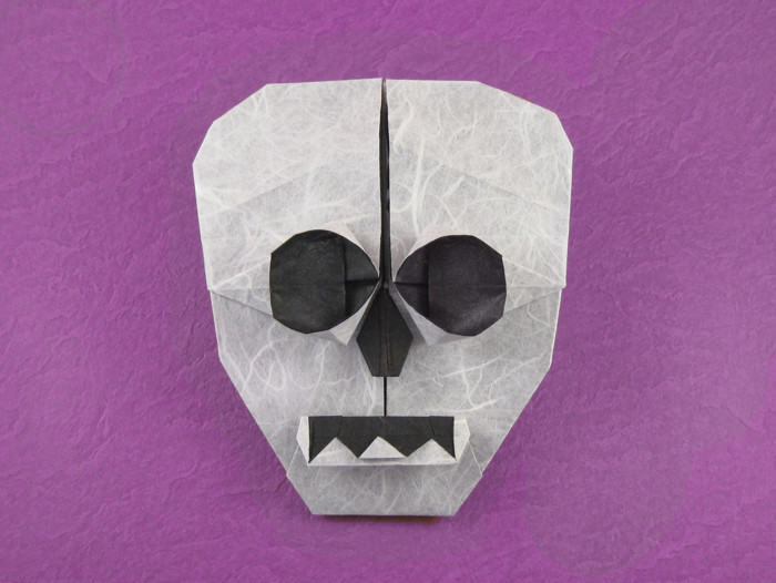 Origami Skull by Anita F. Barbour folded by Gilad Aharoni